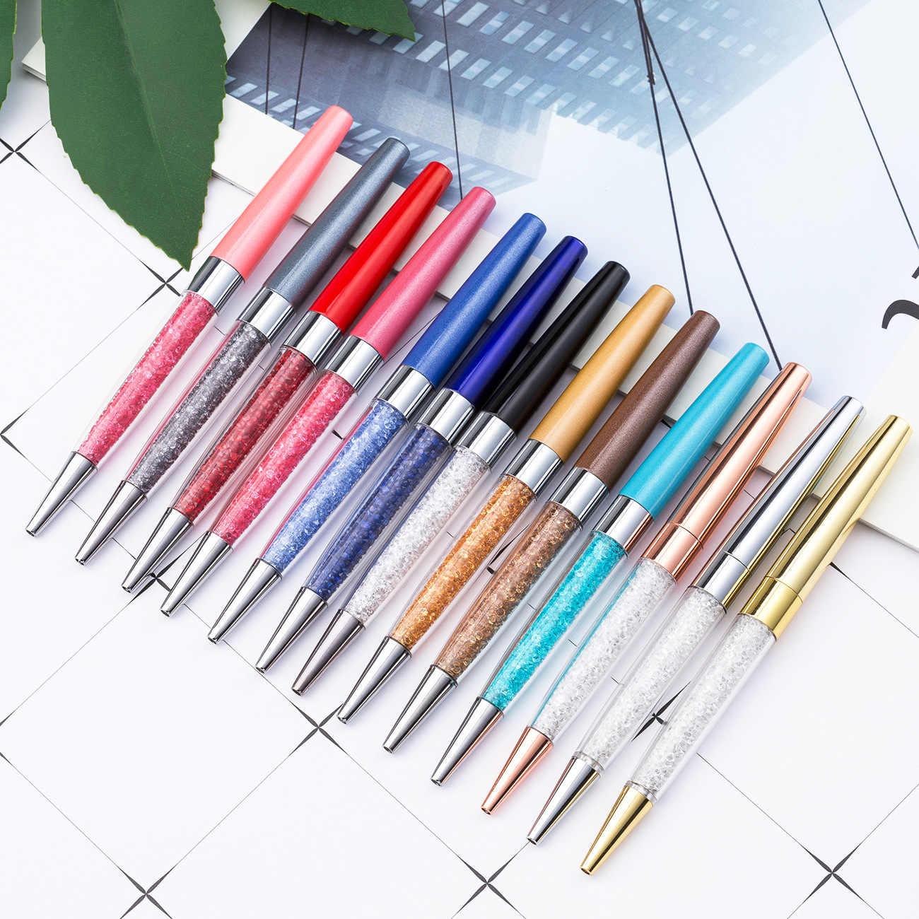1 Pc Nuovo 21 di Colore di Cristallo Penna a Sfera Creativa Penna Pilota per La Scrittura di Cancelleria per Ufficio E per La Scuola Penna a Sfera Inchiostro nero