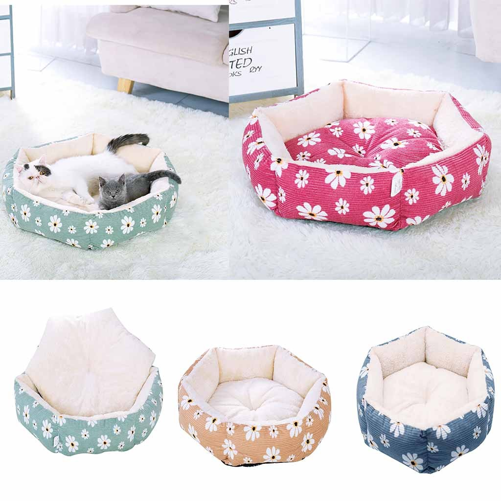 Soft Pet Cat Dog Bed Warm Cushion House Kennel Doggy Home Mat Blanket Winter