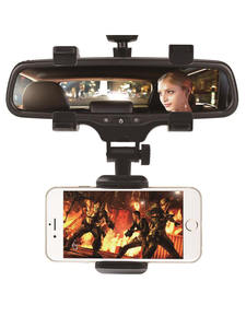 XMXCZKJ Car Phone Holder Car Rearview Mirror Mount Phone Holder 360 Degrees For iPhone