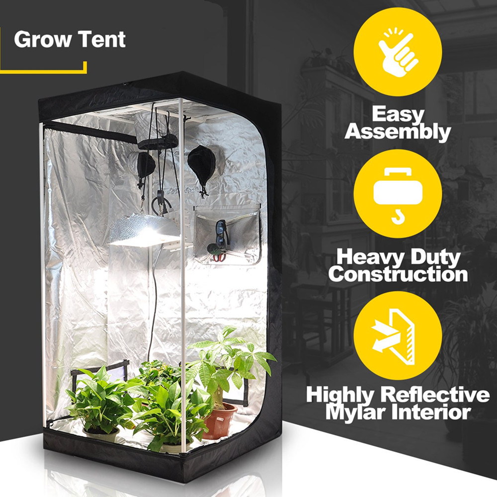 50x50x100 Led Grow Tent 60x60x140 Grow Box 80x80x160 Tent 100x100x200 Led Grow Tent 120x120x200 Plant Gorw Tent For Indoor Grow