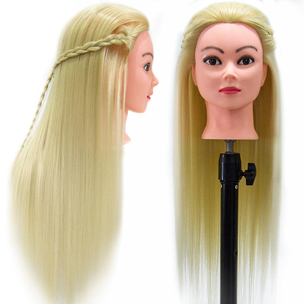 65 см длинные волосы высокотемпературный волоконный Профессиональный манекен голова для причесок тренировочная манекен для причесок трени...