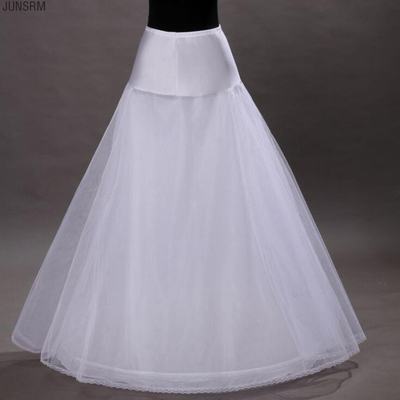 High Quality One Hoop Two Layer Tulle A Line Petticoat Bridal Wedding Petticoat Underskirt Crinolines For Wedding Dress