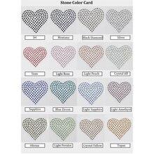 Sticker Transfer Hotfix Crystal Ab Rhinestone Diamond-Shape Mouth-Heart Motif Heat-Press