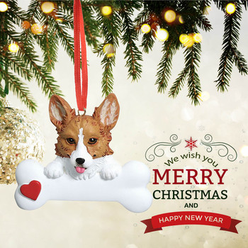 #52 Christmas Ornament Personalized Animal Cute Dogs Family Of Ornament 2020 Christmas Holiday Decorations Navidad Decoración image