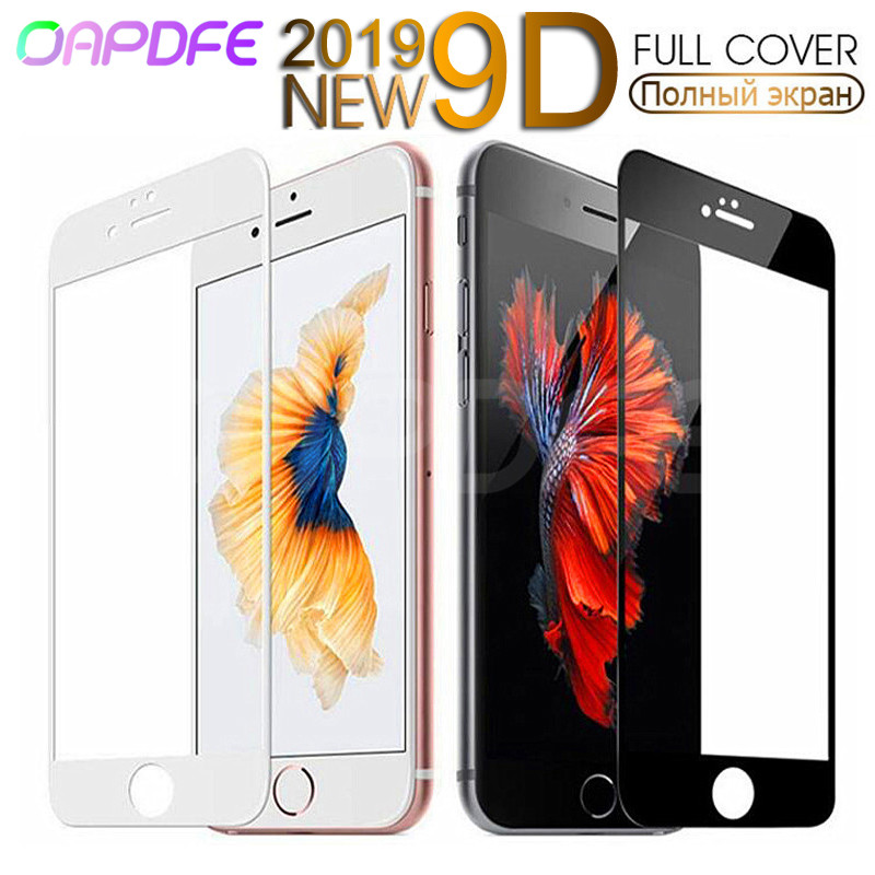 9D Protective Tempered Glass For IPhone 6 6s 7 8 Plus X 10 Glass Screen Protector Soft Edge Curved On The For IPhone XR XS MAX