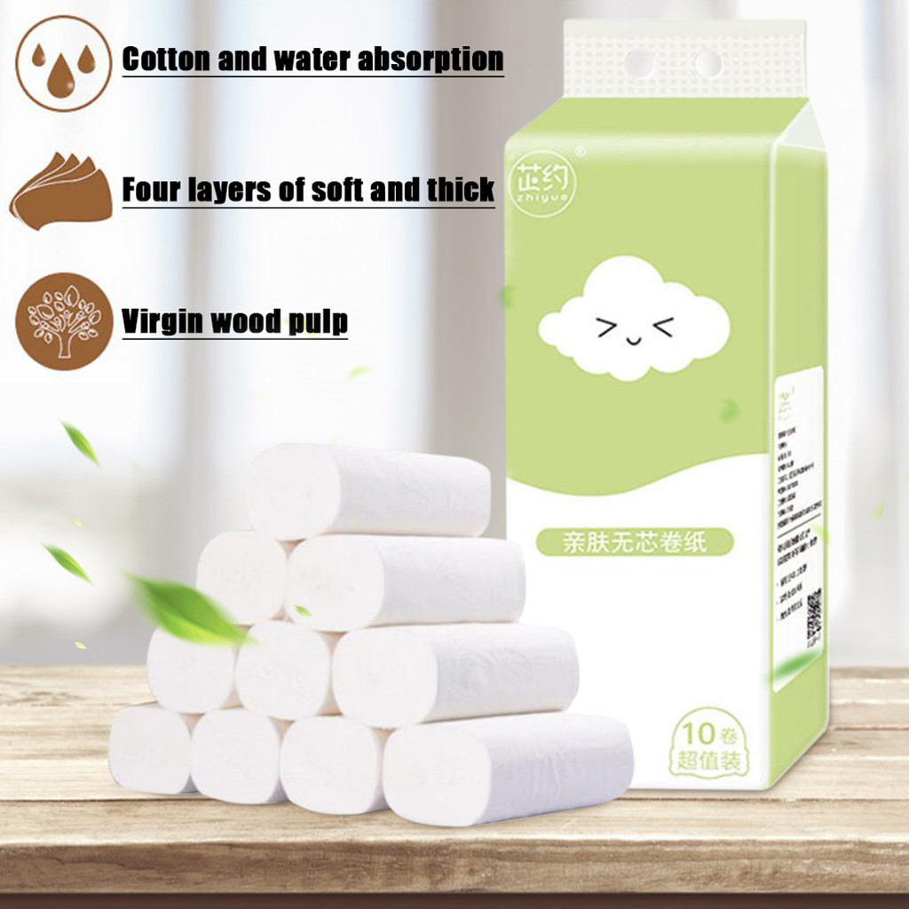 10pcs New Style Soft Toilet Paper  Hygienic Roll Paper Affordable Coreless Special Paper Towels Toilet Paper @3