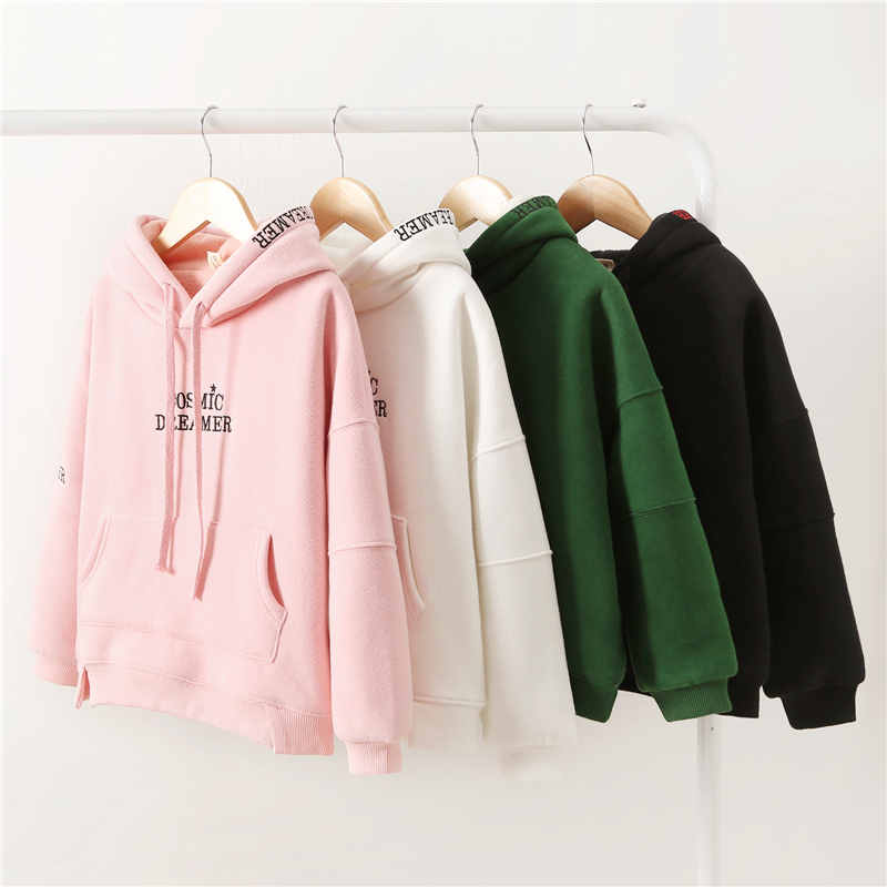 Girl's Hoodies 2020 Spring Autumn Big Children's Korean Cotton Hooded Pullover Sweatshirt Girl Letter Casual Sportswear Clothing