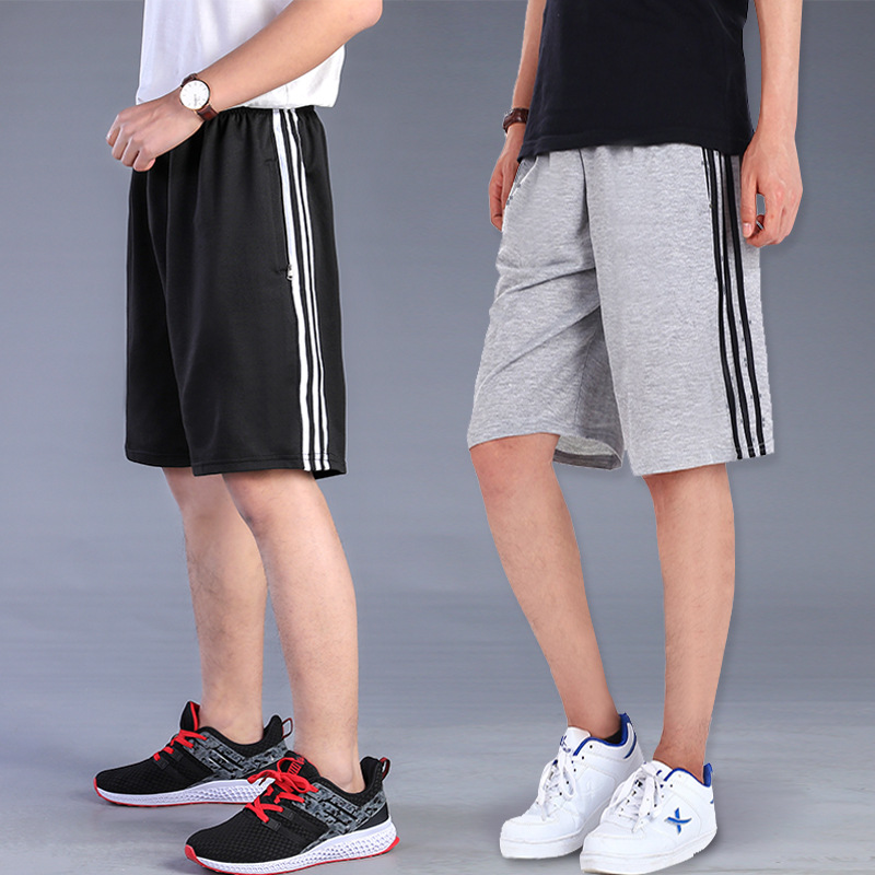 Summer Shorts Men's Casual Pants Large Size Men Sports 5 Shorts Fat Beach Shorts