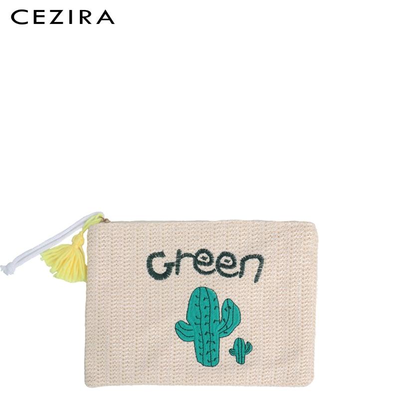 Straw Clutch Handbag Summer Beach Straw Purse for Women woven Envelope Bag