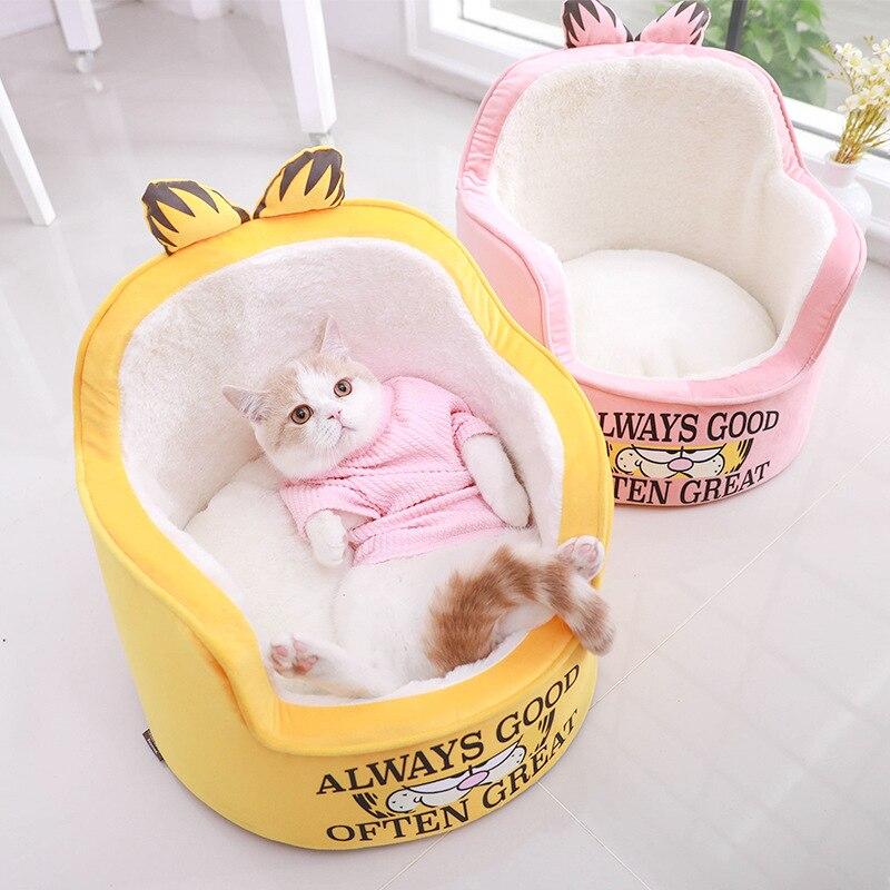 Garfield Princess Sofa-Pet English Short Cat Corgi Comfortable Nest Pet Winter Sofa Pet Supplies