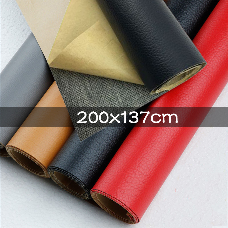 200x137cm Leather Fabric Stick-on Self Adhesive PU Leather Patch No Ironing Sofa Repairing DIY Fabric Stickers Patches Scrapbook