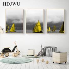 Modern Simple Canvas Painting Wall Picture Art Home Ship Printing Poster for Living Room  AJ00251