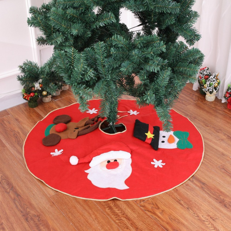 1PC Durable Delicate christmas tree carpet Cartoon Christmas Tree Skirts Santa Claus Elk Anti dust skirt Home Decorations 100CM in Tree Skirts from Home Garden