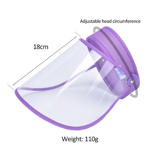 5Pcs Adjustable Transparent Protective Cap Anti-Saliva Splash Mouth Mask Anti-droplet Full Face Mask Windproof Sun Visor Shield 5
