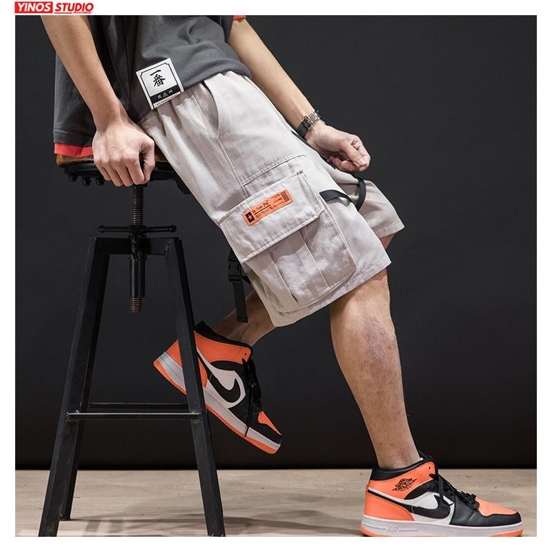 Dropshipping 2020 Men Hip Hop Summer Cargo Shorts Men Korean Japan Style Sweatpants Male Plus Size 5XL Clothes Casual Shorts New