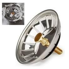 1pc dissipador de assoalho dreno de aço inoxidável pia da cozinha filtro de malha de borracha durável selado lavatório banheiro filtro de cabelo anel
