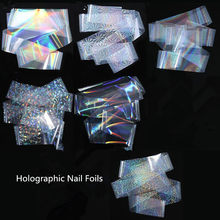 1 Roll 4*120 Cm Holographich Nagel Folie Stickers Voor Nail Art Transfer Sticker Sterrenhemel Laser Slider Transparante sticker Voor Nagels(China)