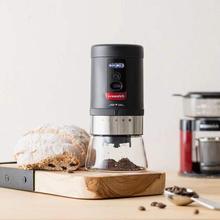 OCEANRICH électrique moulin à café rechargeable en céramique bavure grosseur 20g réglable 5 réglages de mouture pour les types de méthode dinfusion