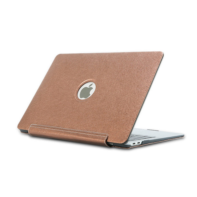 for MacBook Air Pro Retina 15 13 12 11 11.6 Laptop Case PU Siamese Holster Silk Shell Cover for MacBook Air Pro 13.3 15.5 Coque