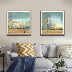 Абстрактная квадратная Жилая декоративная живопись для комнаты диван фон значительно фотообои для прихожей настенное украшение оптовая