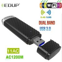 USB 3.0 1200Mbps wireless USB Wifi Adapter Dual Band 5GHz 2.4Ghz 802.11AC RTL8812BU Wifi Dongle Network Card For Laptop Desktop