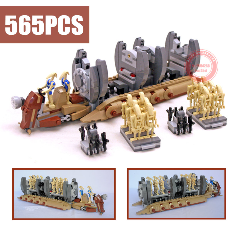 565pcs 10374 NEW  Star Wars Battle Droid Troop Carrier Building Blocks Toys Gifts figureset Boys 75086 compatible with lego