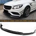 Carbon Fiber Car Front Stoßstange Lip Flügel Spoiler für Mercedes Benz C Klasse C205 C63 AMG Coupe 2 Tür 15-17 cabrio Front Lip