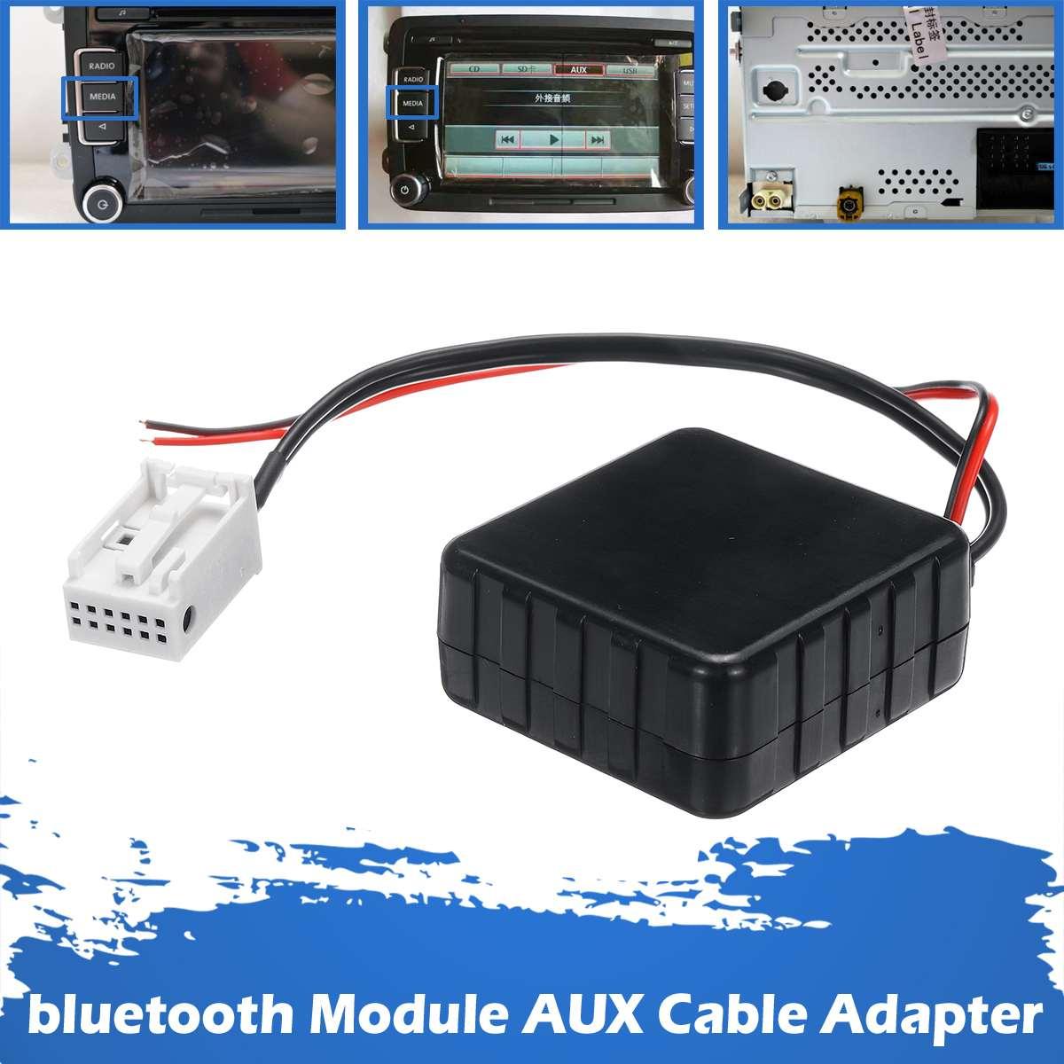 Черный беспроводной автомобильный модуль bluetooth 5,0 5-12 В, вспомогательный кабель, адаптер для VW RCD510 300 + 310 + CD-хост-устройства