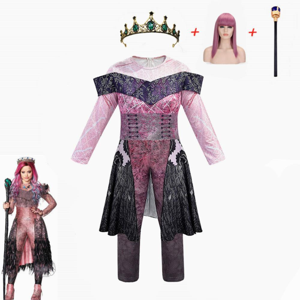 Queen Audrey Evie Costumes Girls Halloween Costumes For Women Funny Party Kids Audrey Descendants 3 Mal Cosplay Fantasia Costume