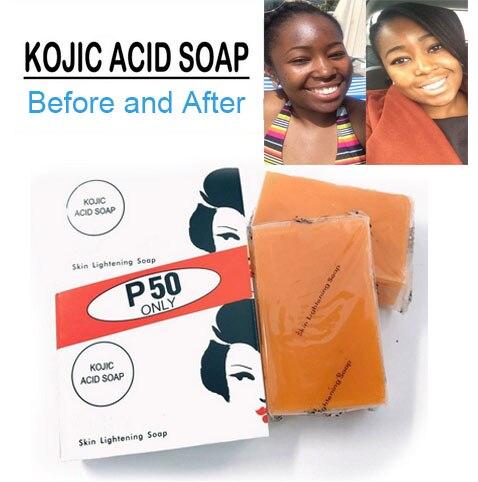 Купить 3 получить 1 бесплатно Kojie San ручная работа отбеливание кожи осветляющее отбеливание Kojic кислота глицериновое мыло Глубокая очистка Б...