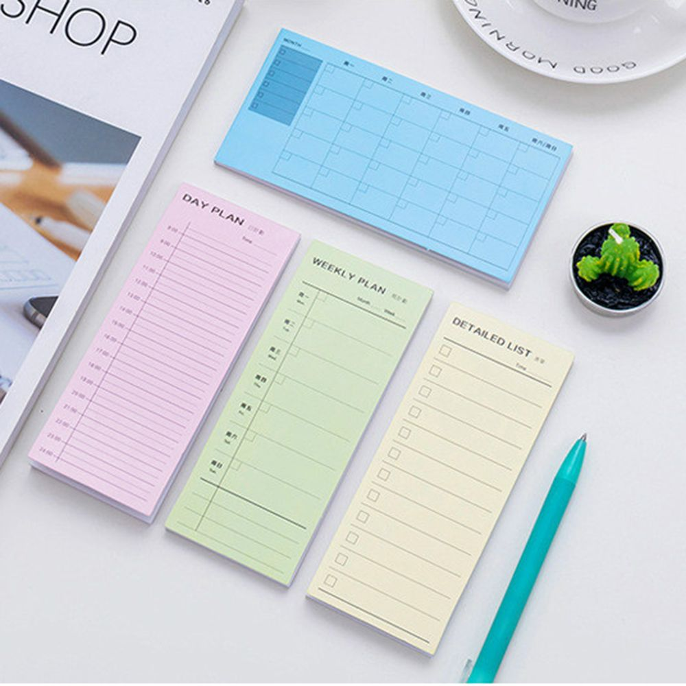 Day Plan Week Plan Month Plan More Detailed List Notebook Notepad Copybook Daily Memos Planner Journal Office Stationery