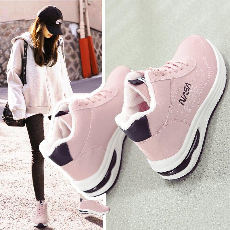 Купить женская обувь новинка 2020 студенческие бархатные теплые зимние