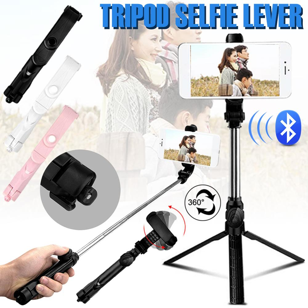 3in1 Bluetooth Selfie Stick Phone Accessories Extendable Selfie Stick Tripod Stand With Detachable Remote Control For SmartPhone