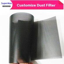 Bricolage 30CM ordinateur maille PVC PC boîtier ventilateur refroidisseur noir filtre à poussière réseau net boîtier anti poussière châssis cache poussière 1 meter/lots