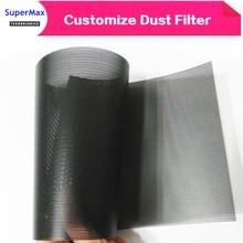 DIY 30CM komputer Mesh pcv obudowa pc wentylator chłodzący czarny filtr pyłowy sieć netto Case osłona pyłoszczelna obudowa osłona przeciwpyłowa 1 metr/partii