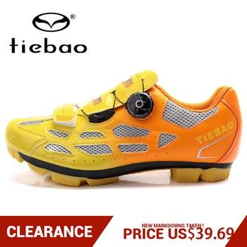 Apuramento! Tiebao das mulheres dos homens mtb sapatos de bicicleta sapatos de ciclismo de montanha auto-bloqueio botas de tornozelo alto triathlon sapatos de bicicleta EU38-47 1
