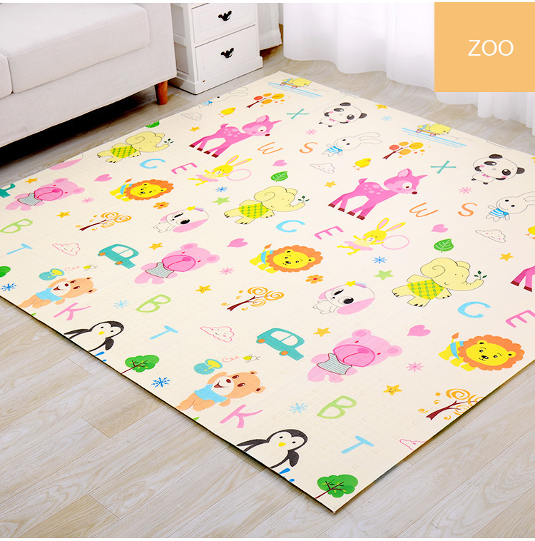H11f5b277d1c141499b20836b14e361113 XPE Folding Baby Play Mat 1cm Thick Crawling Toys for Children's Carpet Climbing Gyme Game Road Pad Living Room Home Kids Rug