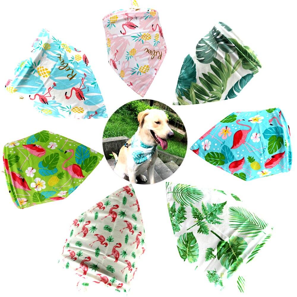 Summer Dog Bandana Pet Small Dog Scarf Bandanas Cotton Adjustable Personalized Puppy Cat Dog Bibs Pet Supplier Dog Accessories