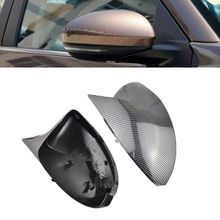 цена на Side Wing Rearview Cap Carbon Fiber Look Car Case Mirror Cover Shell Replacement For Nissan Sylphy Sentra B18 2020