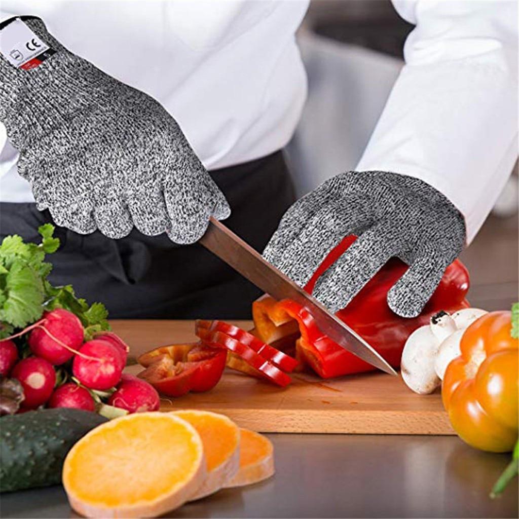Уровень 5 порезов колото проволока металлическая перчатка Кухня мясника перчатки для отлова жемчужин вытаскивания рыбы Кухня Безопасность...