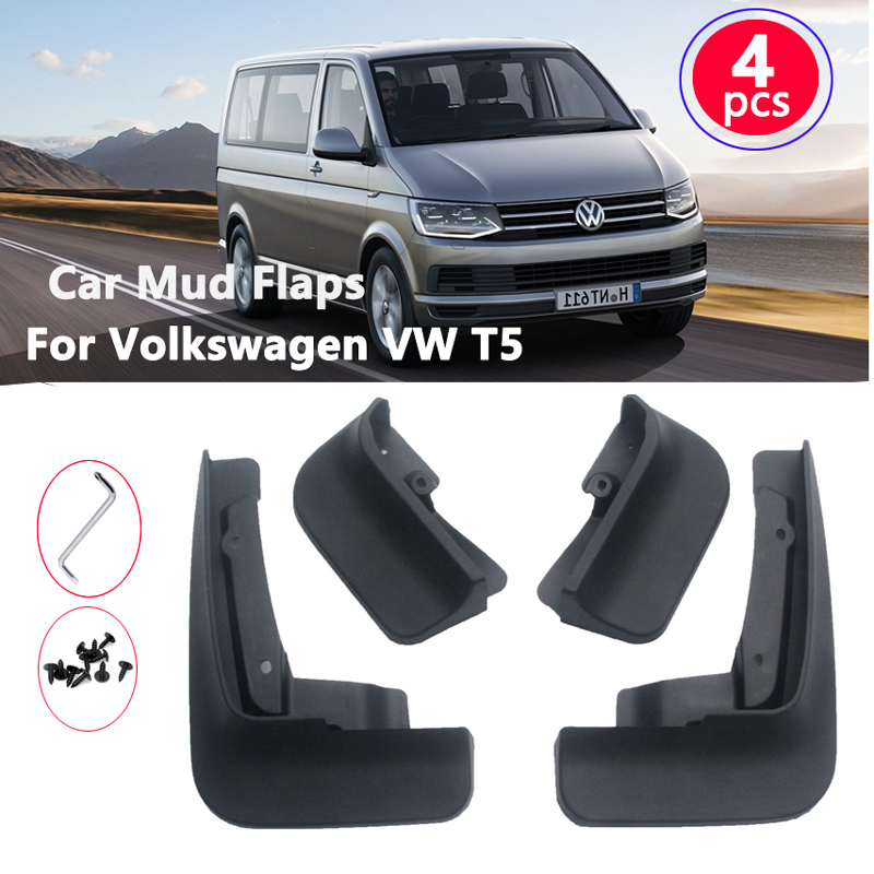 Mudflaps for Volkswagen <font><b>VW</b></font> Transporter <font><b>T5</b></font> Caravelle <font><b>Multivan</b></font> 2004~2015 Guards Car Mud Flaps For Mudguards Fender Front & Rear image