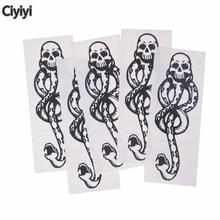 5pcs/lot Harriom Death Eaters Dark Mark Cosplay Tattoos Potter Toys Children Party Show Halloween Gift