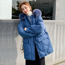 Long-Jacket Women Coat Outwear Hooded Fitaylor Loose Winter 90%White-Duck-Down New Thick