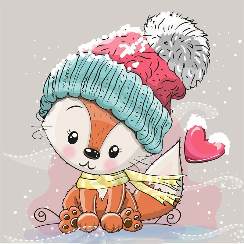 merry christmas dies cute cartoon fox metal cutting dies Christmas font b pet b font paper