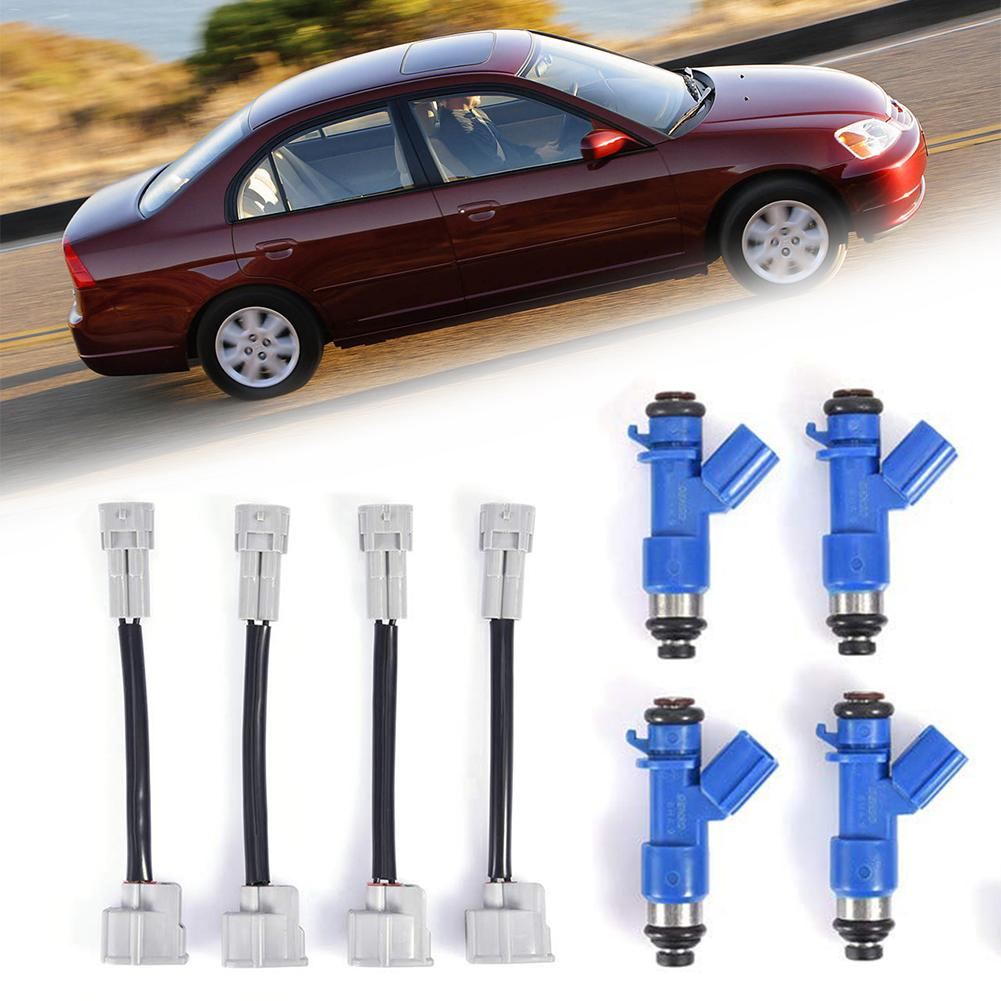 4x Fuel Injectors w//Plug /& Play Adapters for Honda Acura RDX 16450RWCA01