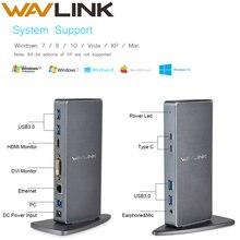 Универсальная док-станция для ноутбука Full HD 1080P USB 3,0 type-C USB-C Вертикальный двойной видео дисплей USB-C док-станция для Mac OS Windows EU