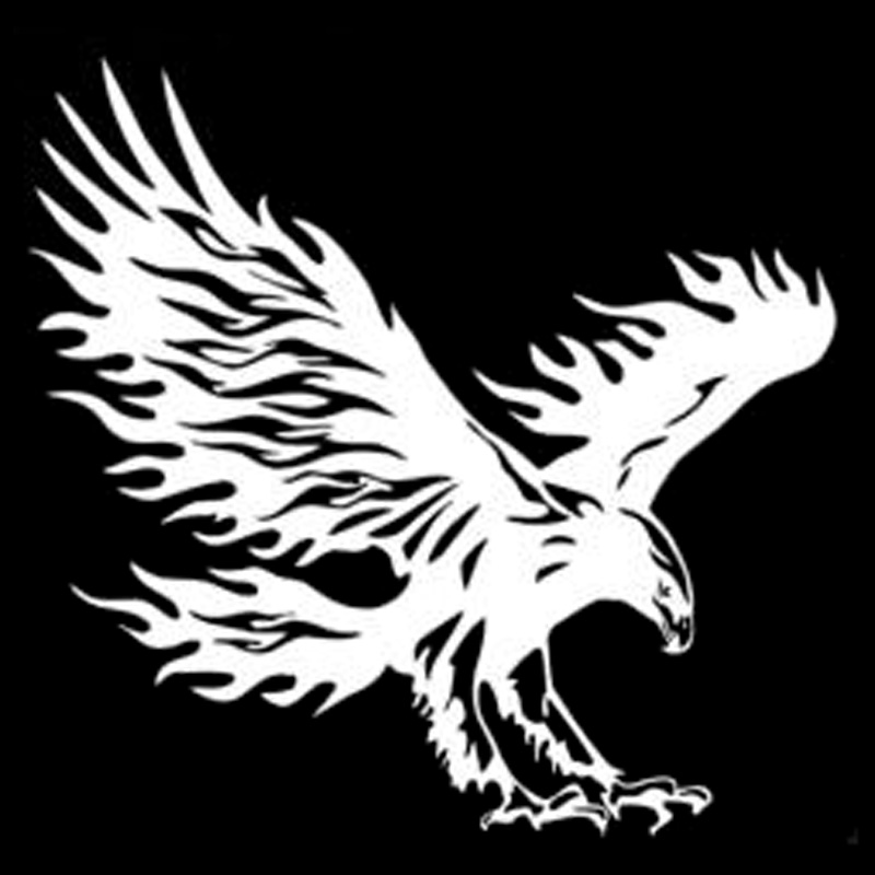 14 4cm 13 8cm Animal Eagle Car Styling Motorcycle Car Sticker Vinyl Decal Black in Car Stickers from Automobiles Motorcycles