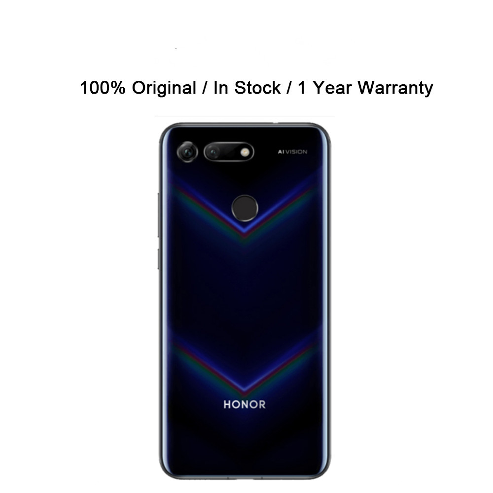 Телефон Honor V20 Honor View 20 с глобальной прошивкой, Android, 48 Мп + 25 МП, сканер отпечатка пальца, Kirin 980 OTA, экран 6,4 дюйма, NFC, зарядное устройство 22,5 Вт