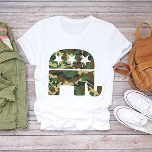 Женская забавная Футболка С Рисунком Слона 90s, забавная модная женская футболка 90s, женская футболка с графическим рисунком, женская футболк...