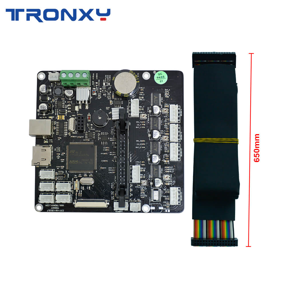 Tronxy Upgrade Silent Mainboard Add Single Cable Design Interface  For X5SA 400 XY-2 Pro 3D Printer Original Supply Motherboard